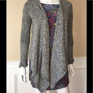 Abercrombie gray open front sweater